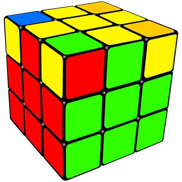 permuted last 4 corners of the  Rubix   Cube