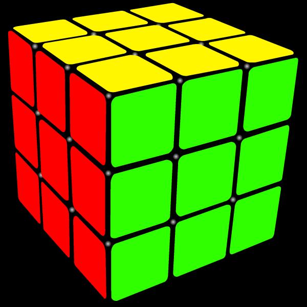 A solved  Rubix  Cube