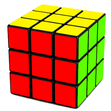 Your Goal  - orient(turn) the corners and solve the  Rubik's Cube