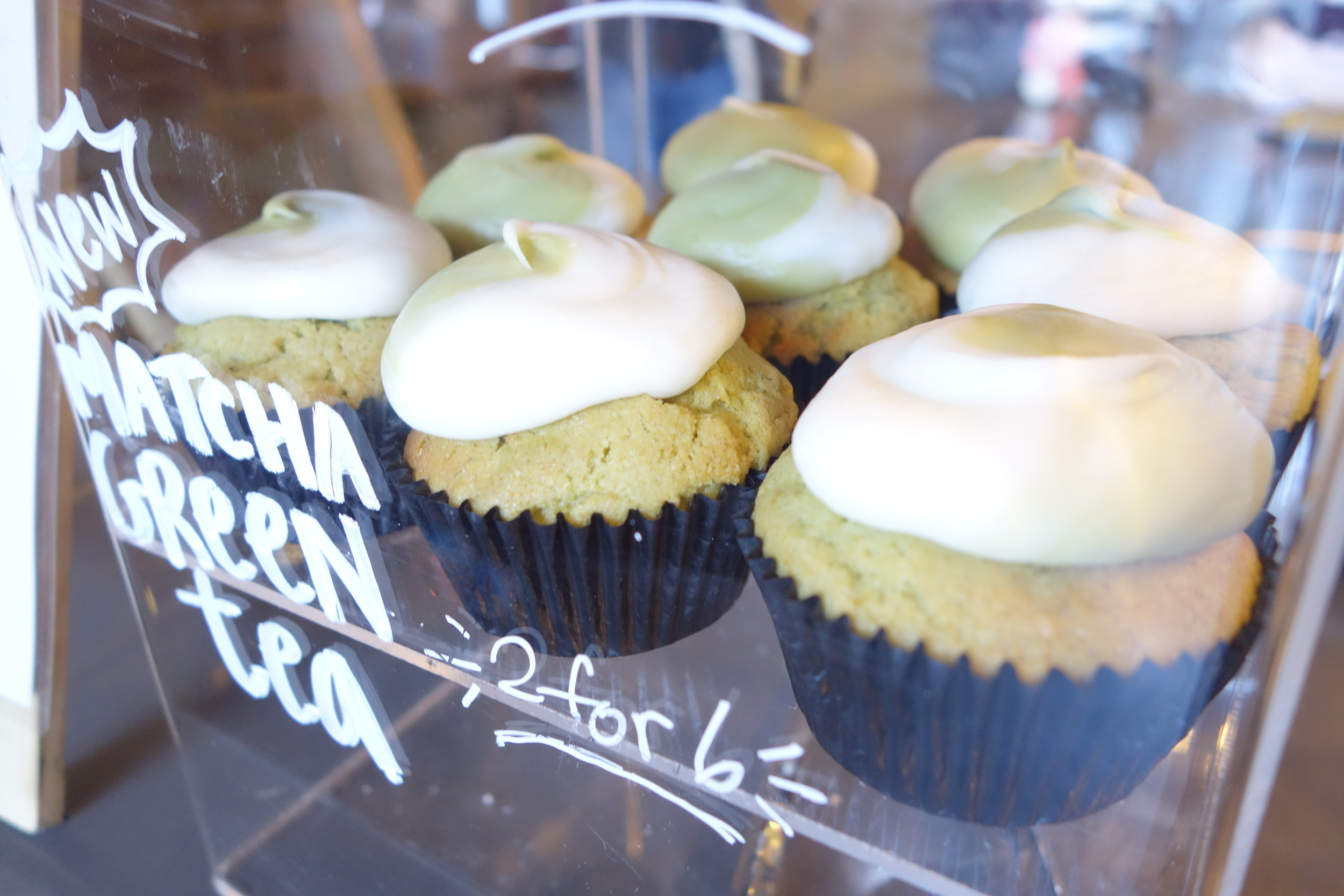 Matcha Green Tea Cupcakes by We The Minis.