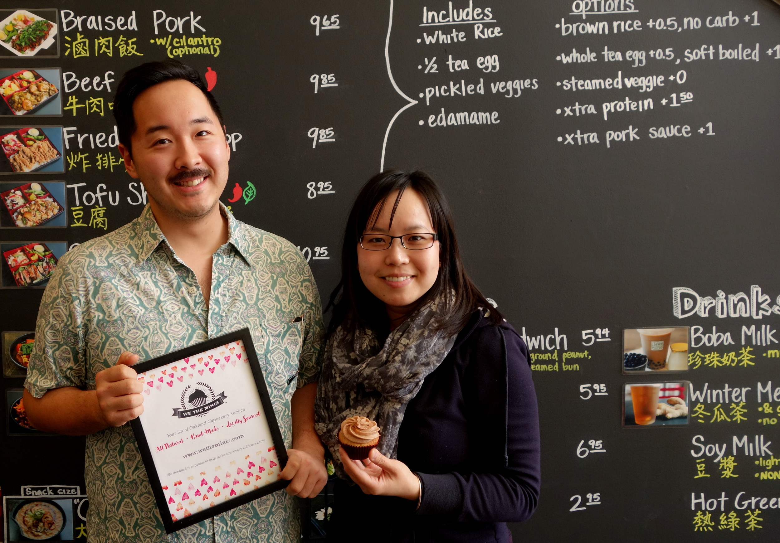 Owner, Founder & Cake Enthusiast, Wenter Shyu (Left) & Sandy Elle (Right) at Taiwan Bento.