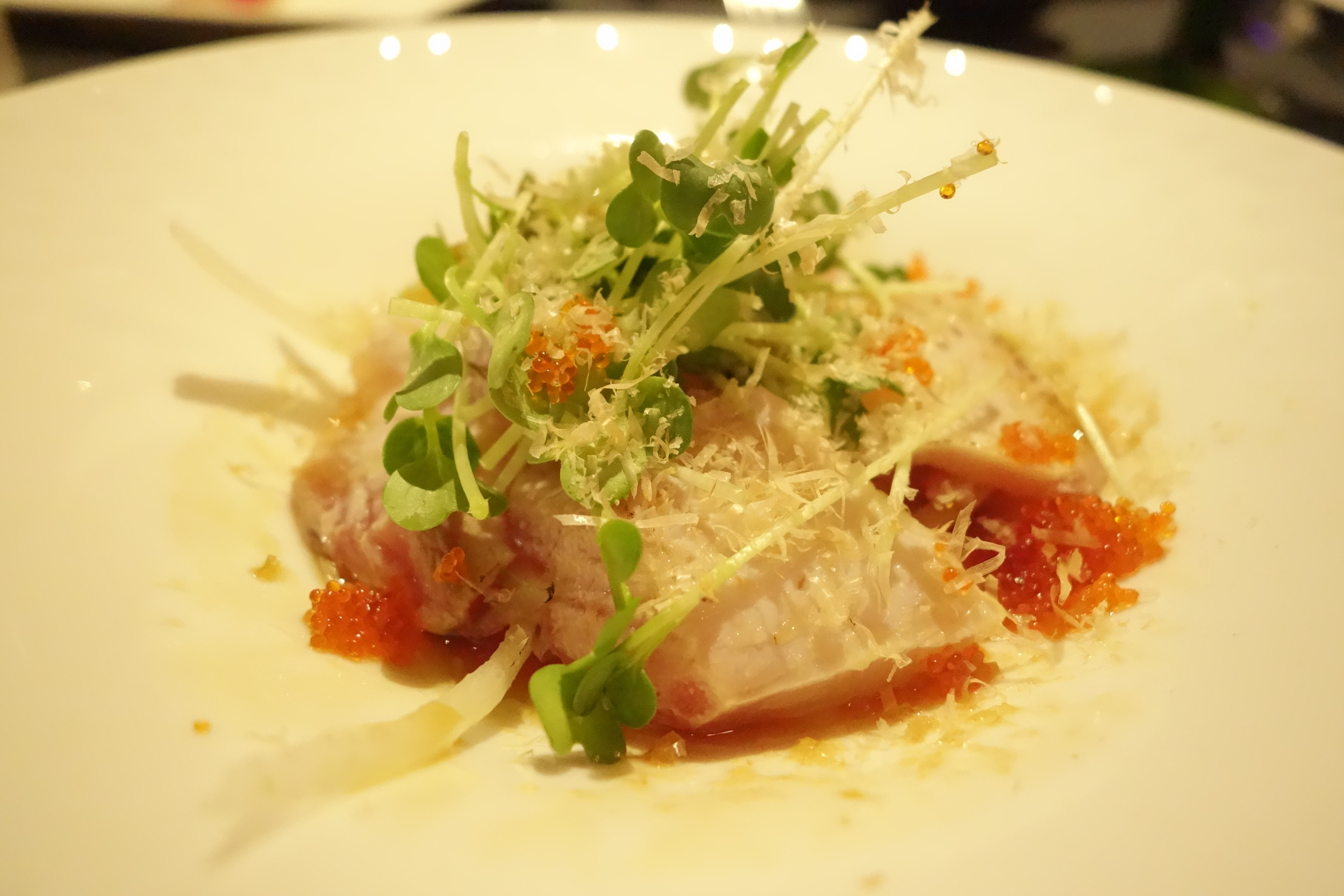Truffle Hamachi at Anzu Restaurant and Bar.
