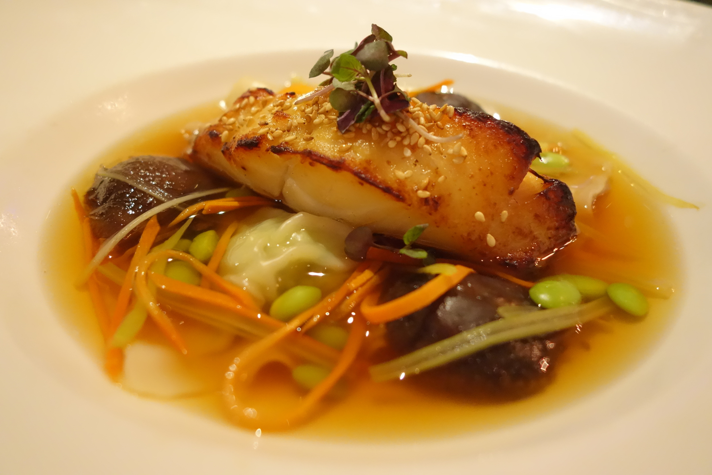 Misoyaki Black Cod at Anzu Restaurant & Bar. Copyright of SandyByTheBay.com 2016.