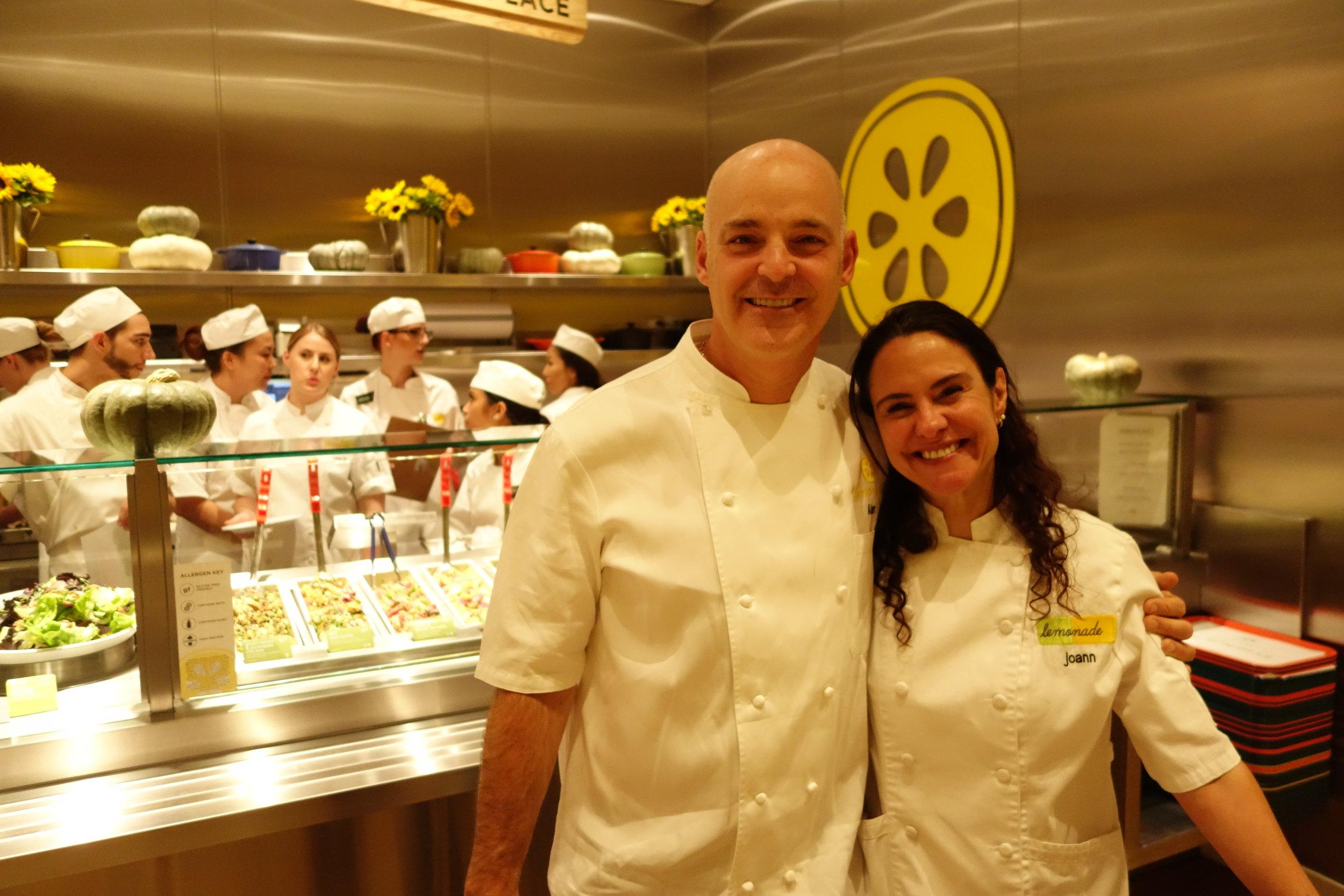 Lemonade Founder & Executive Chef Alan Jackson (left), & Head of Marketing JoAnn Cianciulli (right)