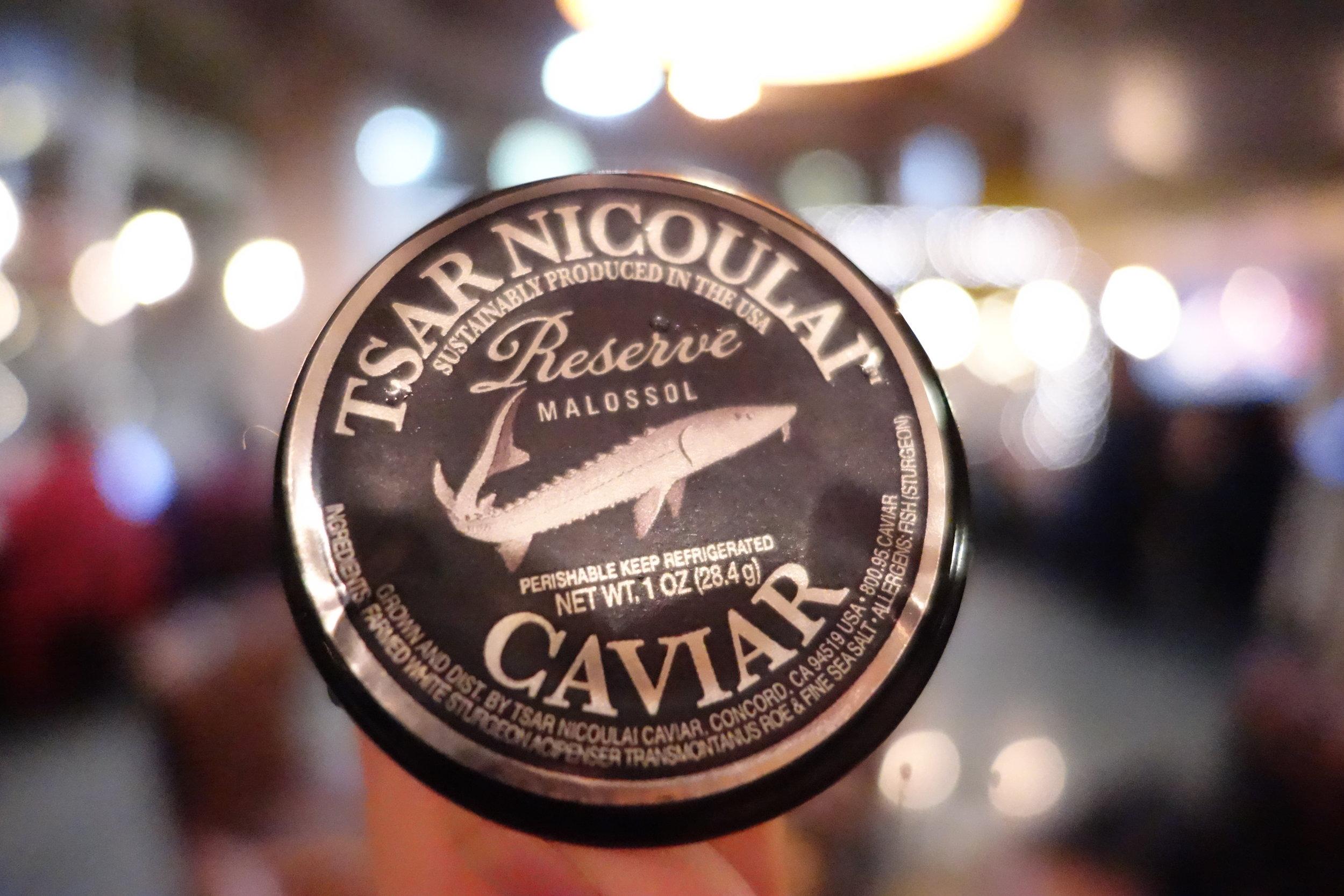 Tsar Nicoulai Reserve Caviar