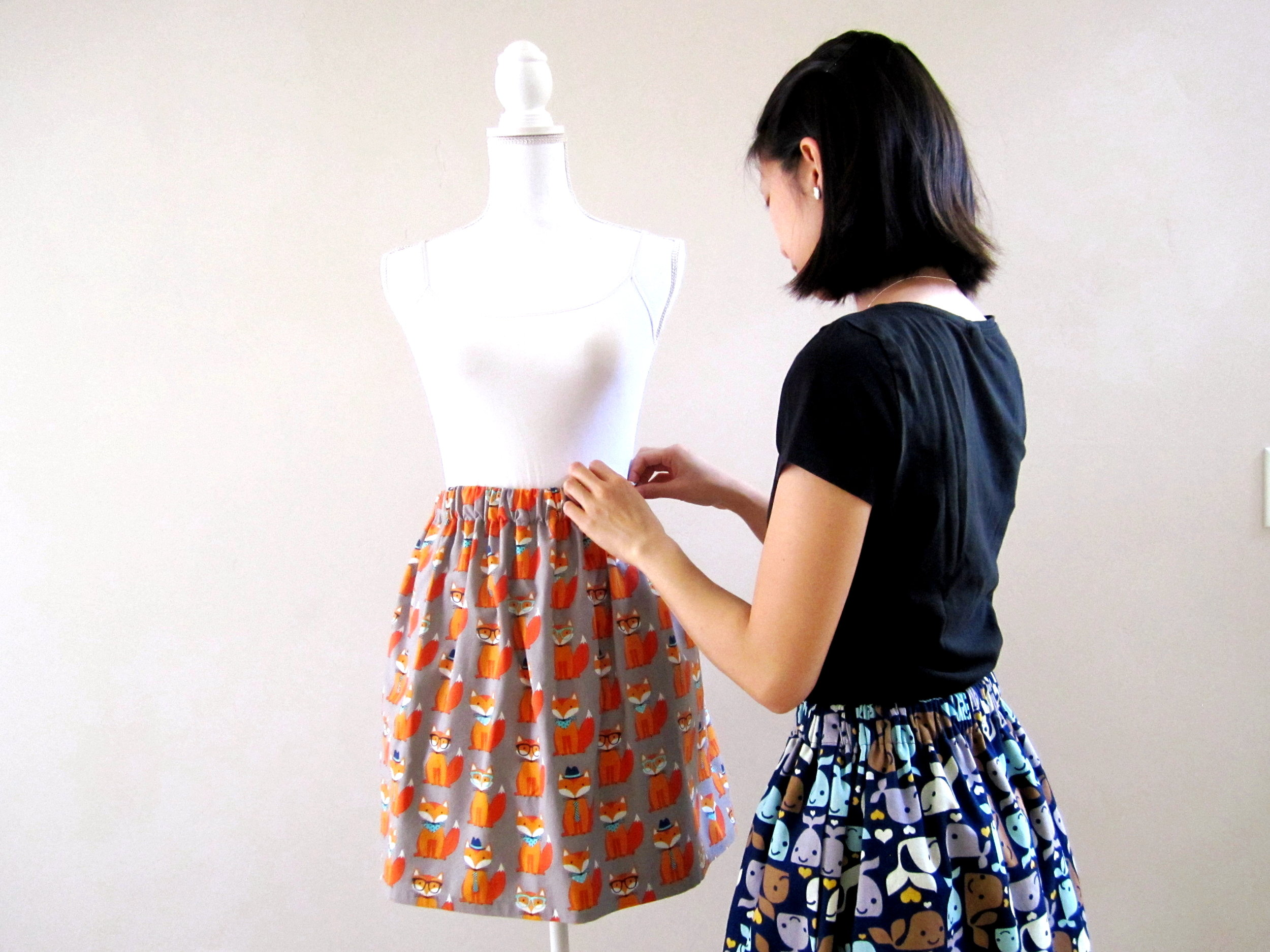 Carmen Cheung working on the Hipster Fox Skirt