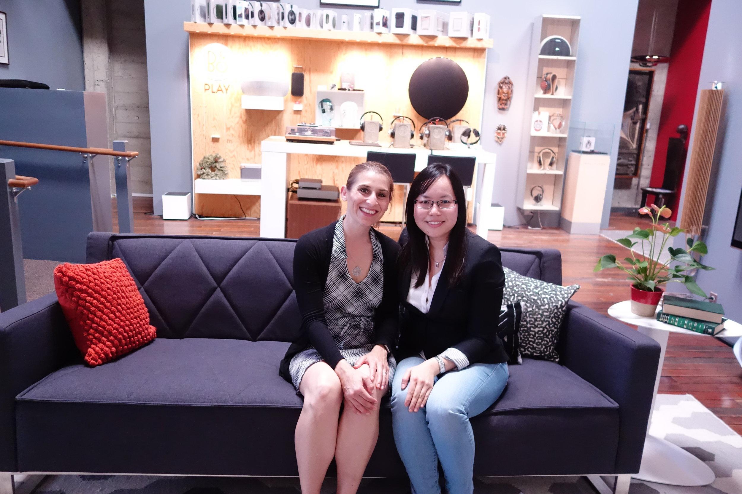 Kristie Middleton (Left) & Sandy Leung from SandyByTheBay.com food blog (Right).