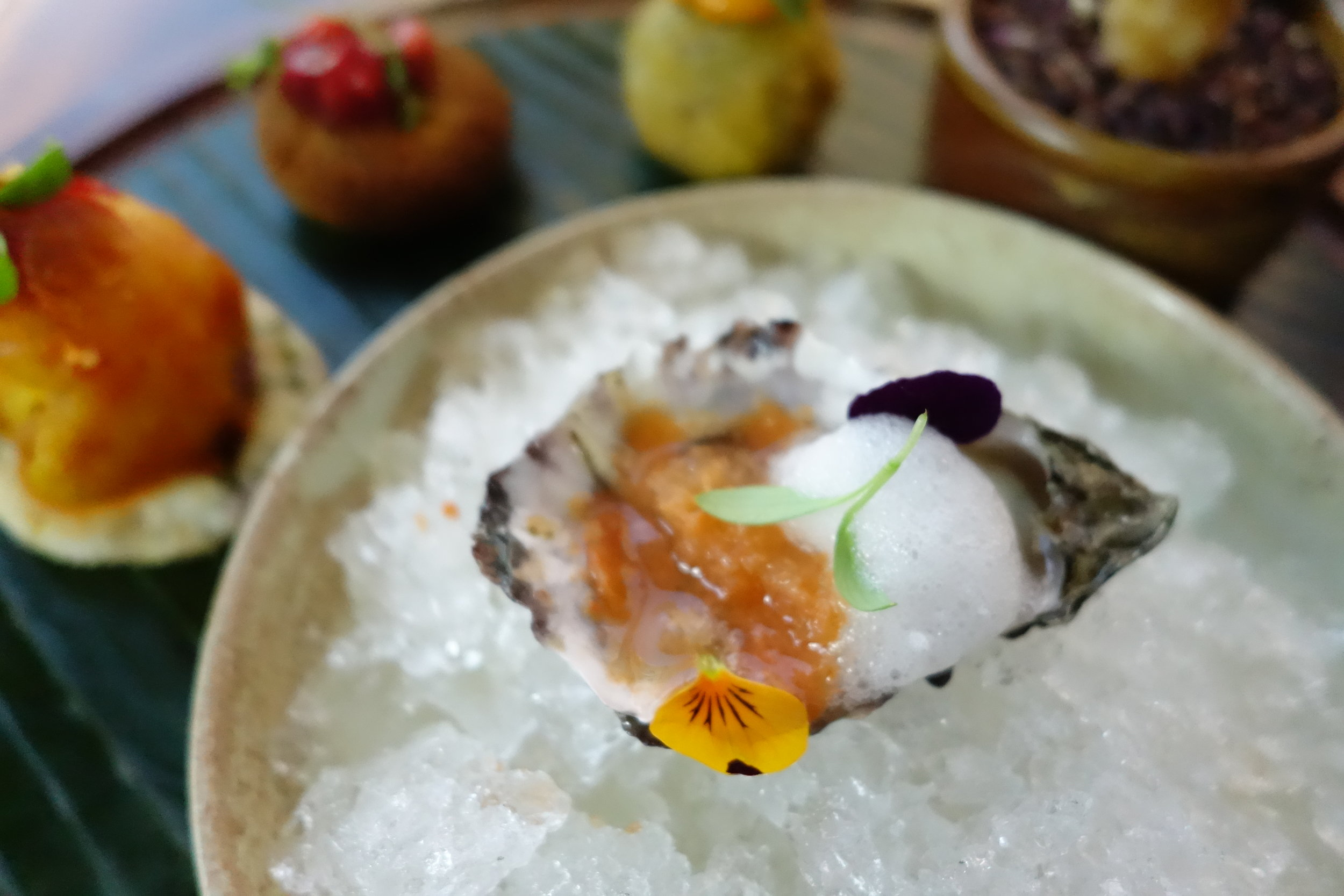 Oysters by Executive Chef Sanjay Sarkar
