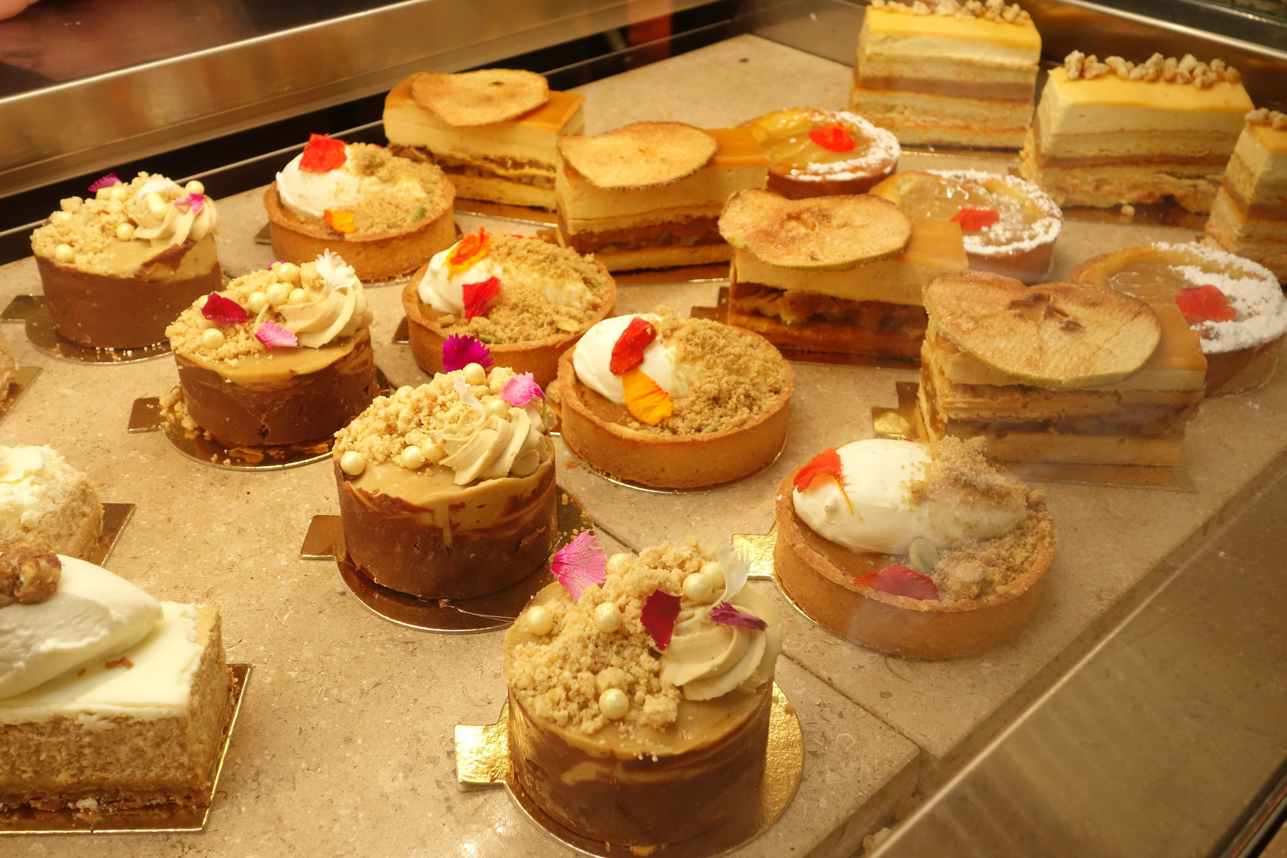 Desserts at Le Marais Bakery