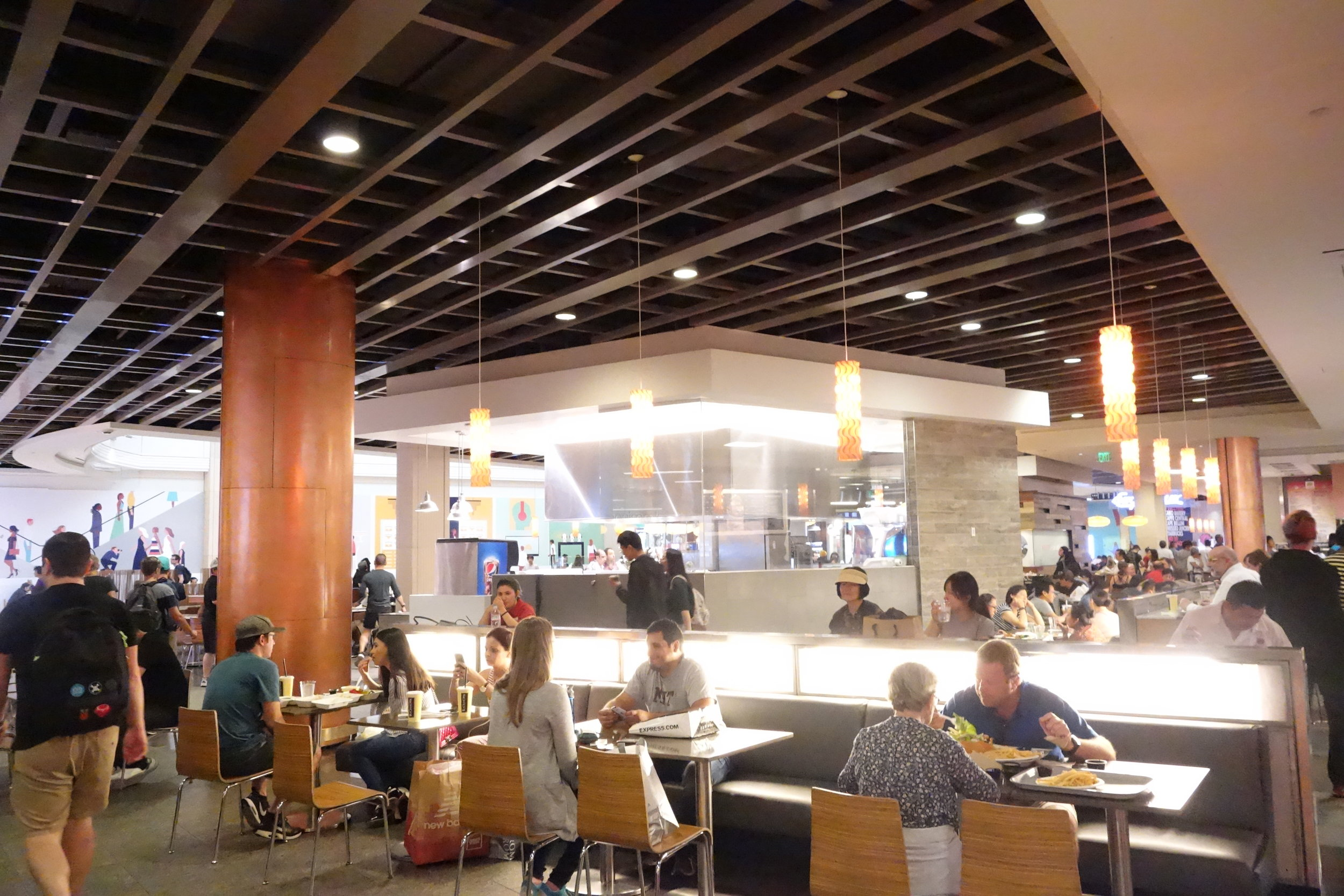 Inside the Food Court at Westfield San Francisco Centre.