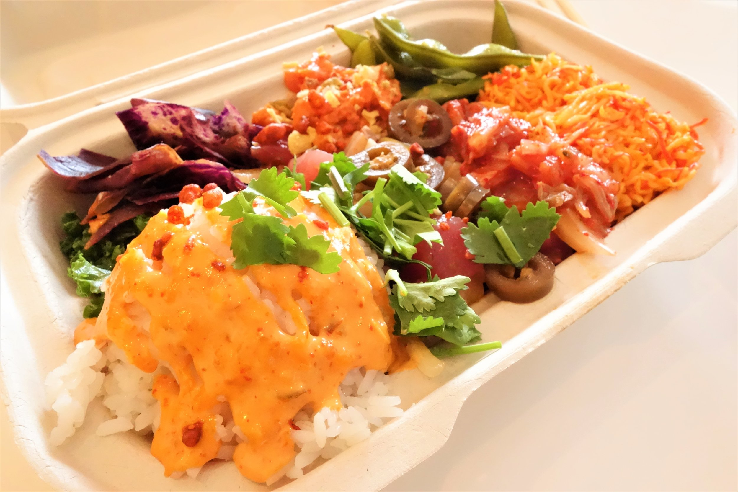 The Volcano Crunch Poke Box. Pokeatery in Walnut Creek, California.