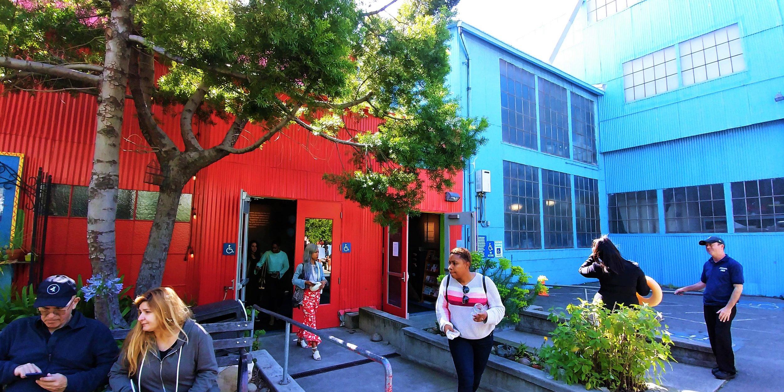 Outside SOMArts Cultural Center. SoMa District, San Francisco.
