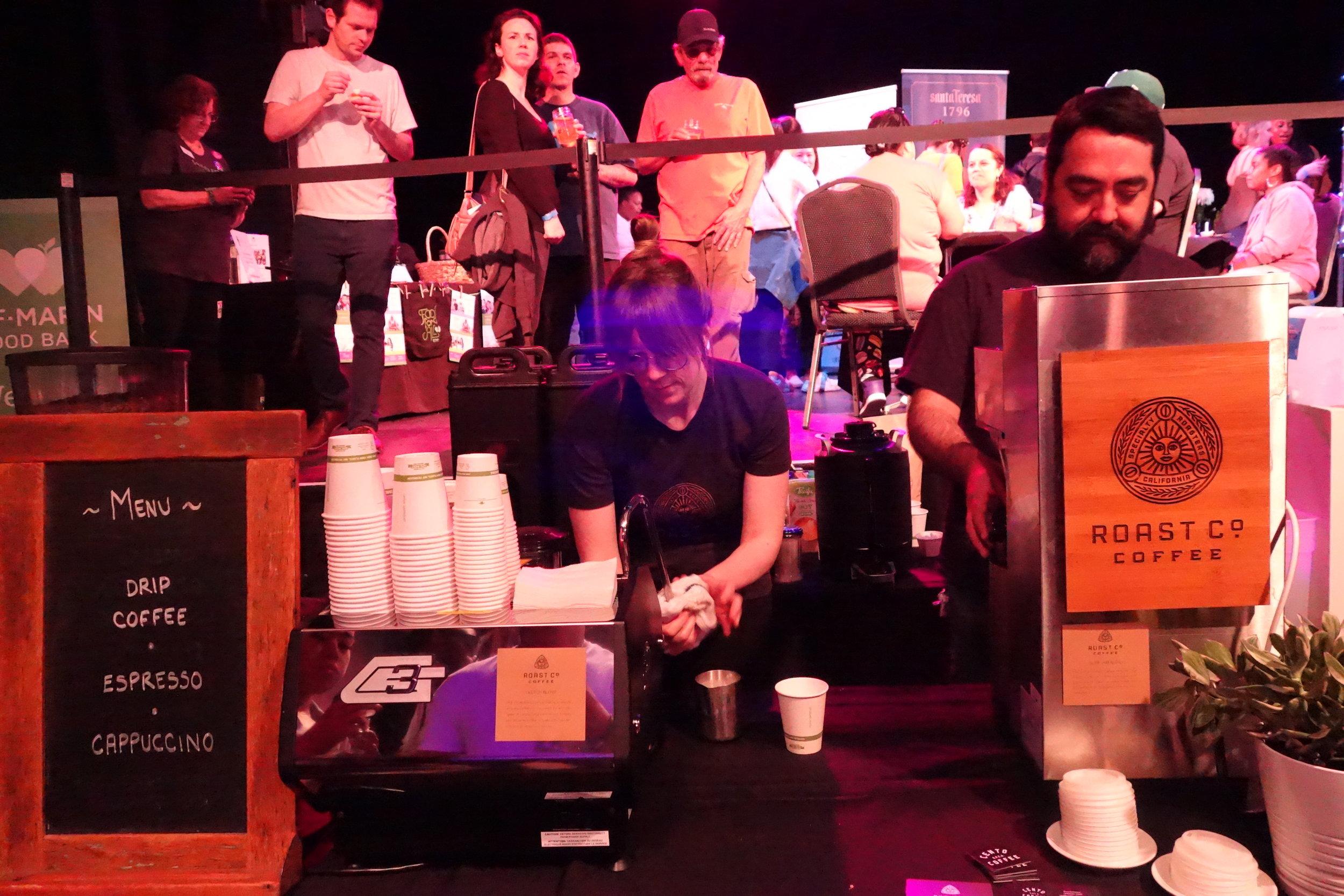Roast Co Coffee Team members serving coffee samples