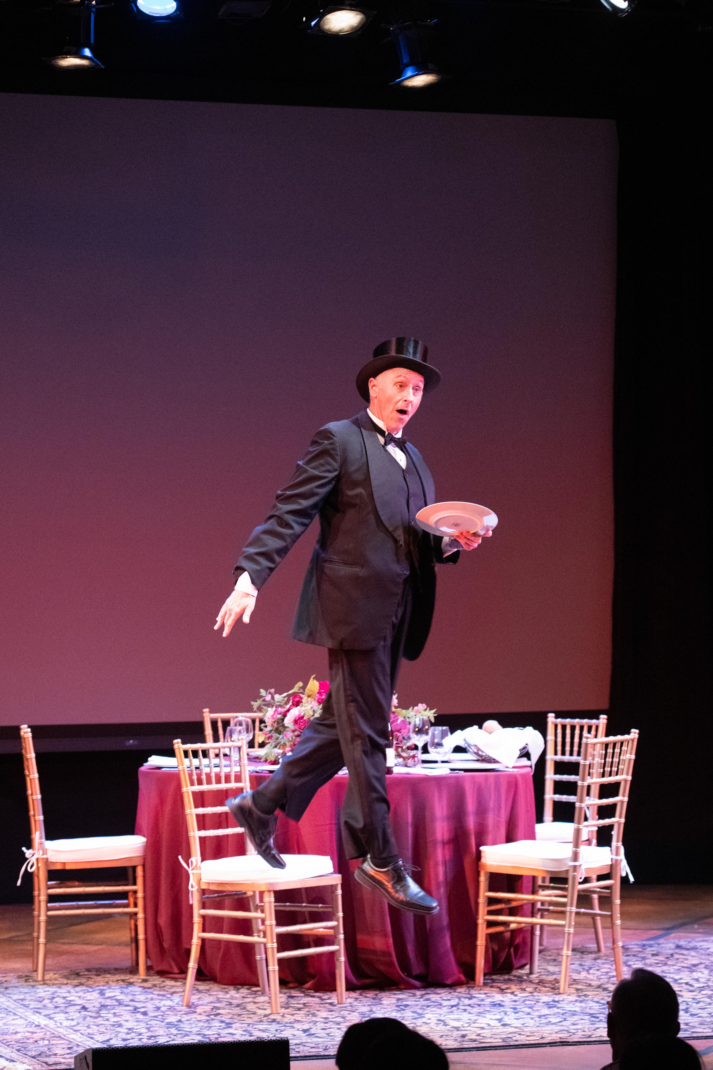 Michael Patrick Gaffney in THE OLDEST LIVING CATER WAITER. Photo by Ben Krantz Studio