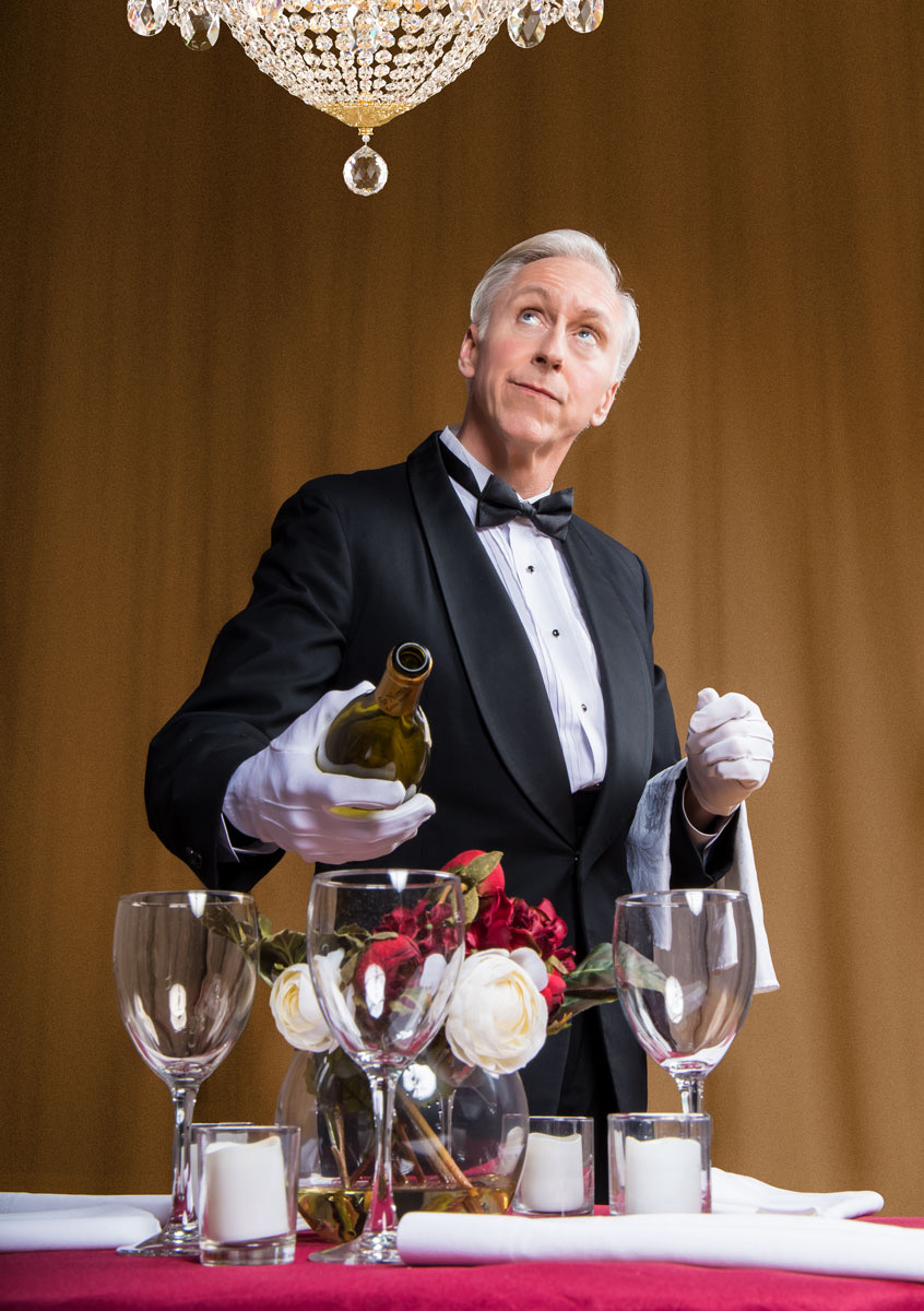 Michael Patrick Gaffney in THE OLDEST LIVING CATER WAITER. Photo by DC Scarpelli