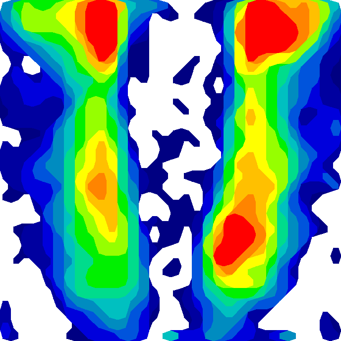 Example of pressure image from 'static' treed saddle (Treed)
