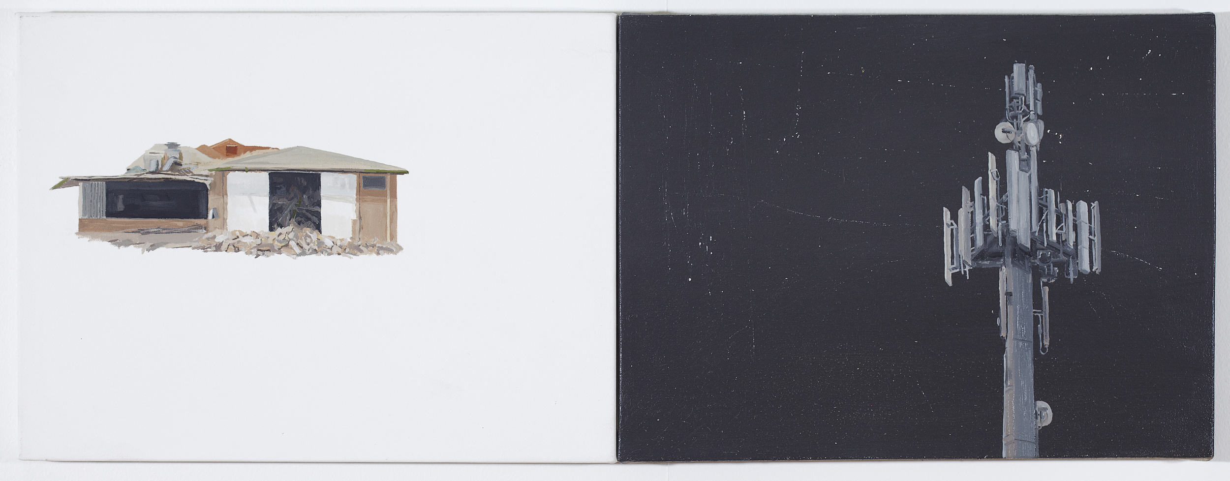 Satelite 2012 Oil on Canvas 31 x 82cm