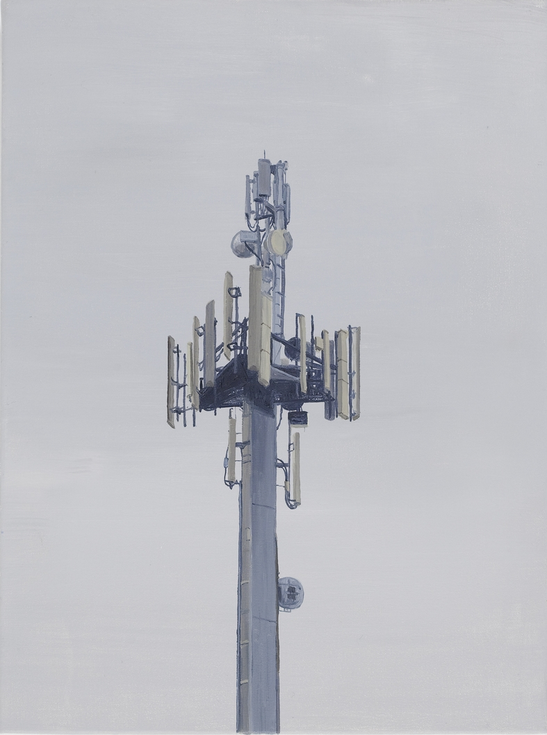 Phone Tower 2010 Oil on Canvas 31 x 41cm