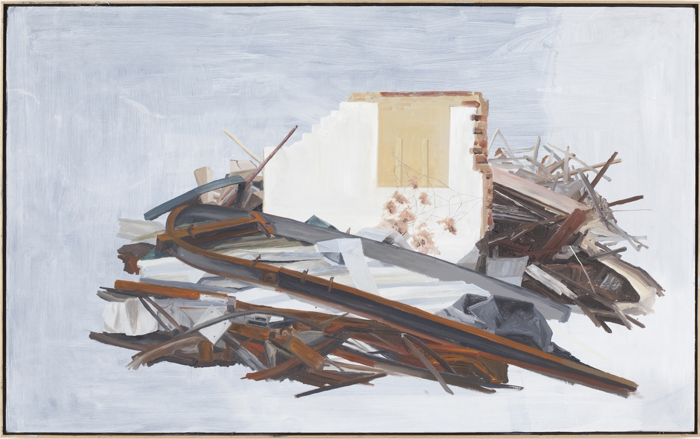 Demolition 2010 Oil on Board 102.5 x 64cm