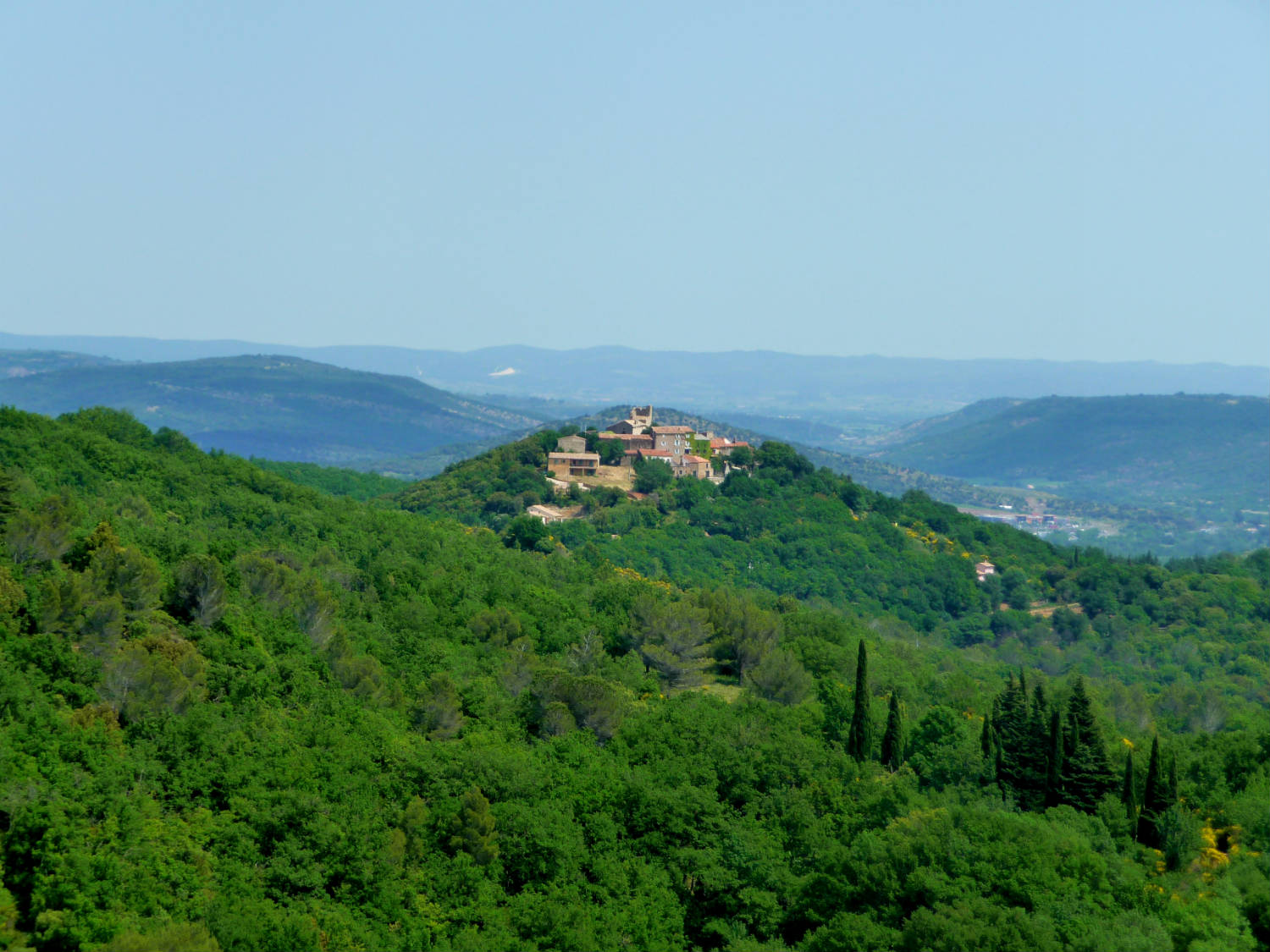 The hamlet of Olmet is located in some of the most picturesque countryside of France