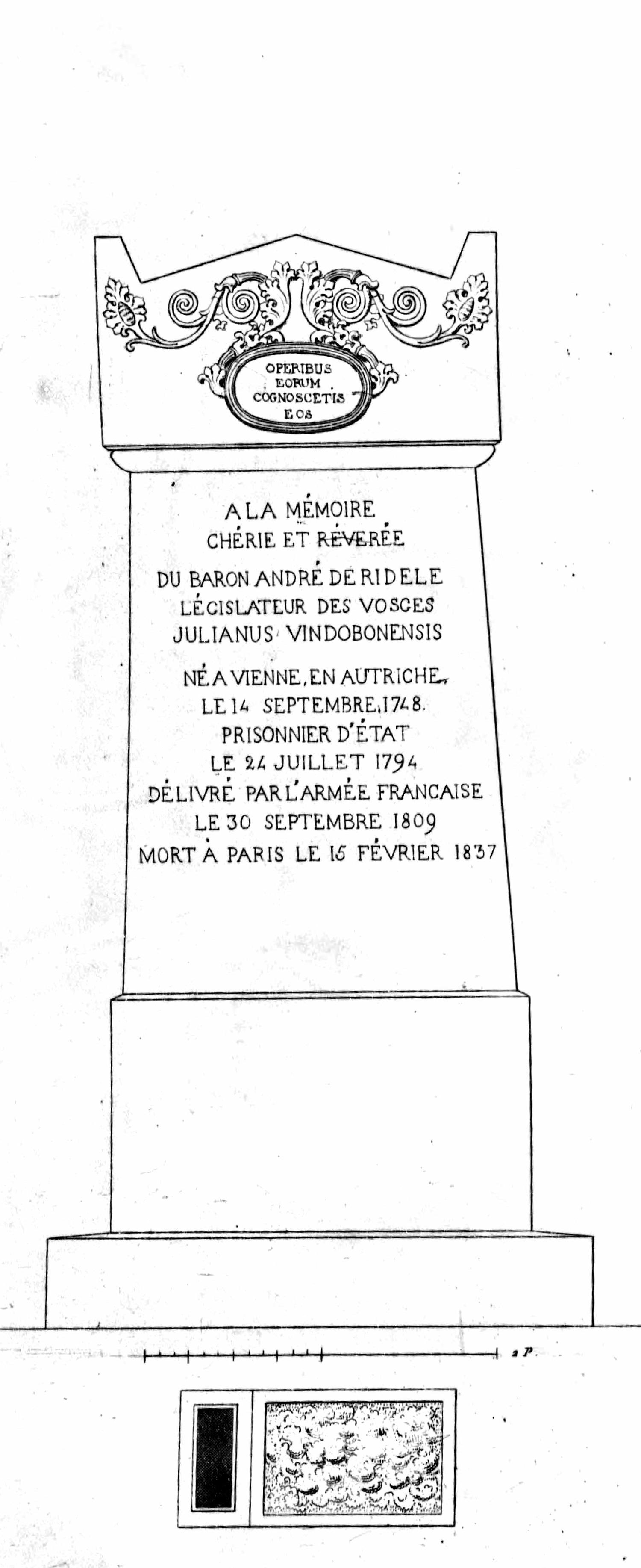 Monuments funéraires choisis dans les cimetières de Paris et des principales villes de France,  2nd part, 1863, by L. Normand ainé; plate 59
