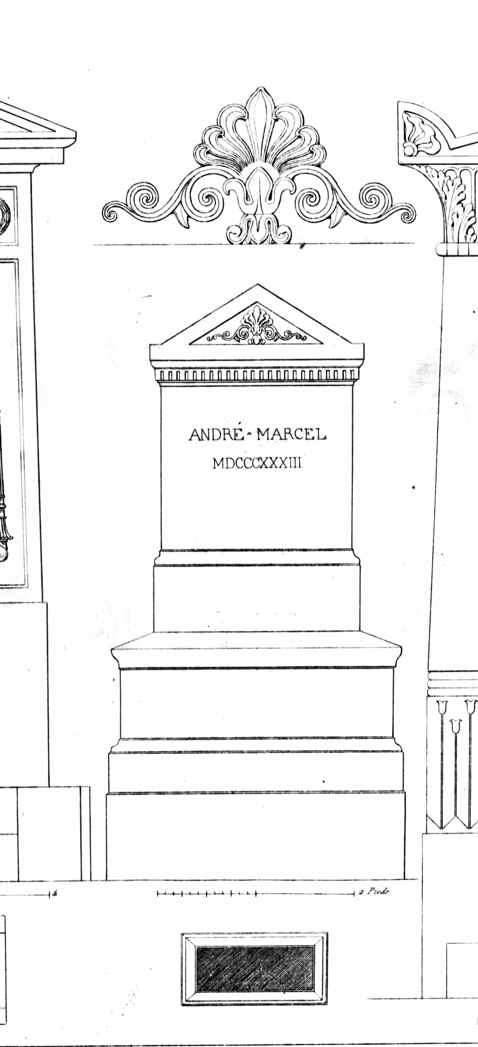 Monuments funéraires choisis dans les cimetières de Paris et des principales villes de France,  2nd part, 1863, by L. Normand ainé plate