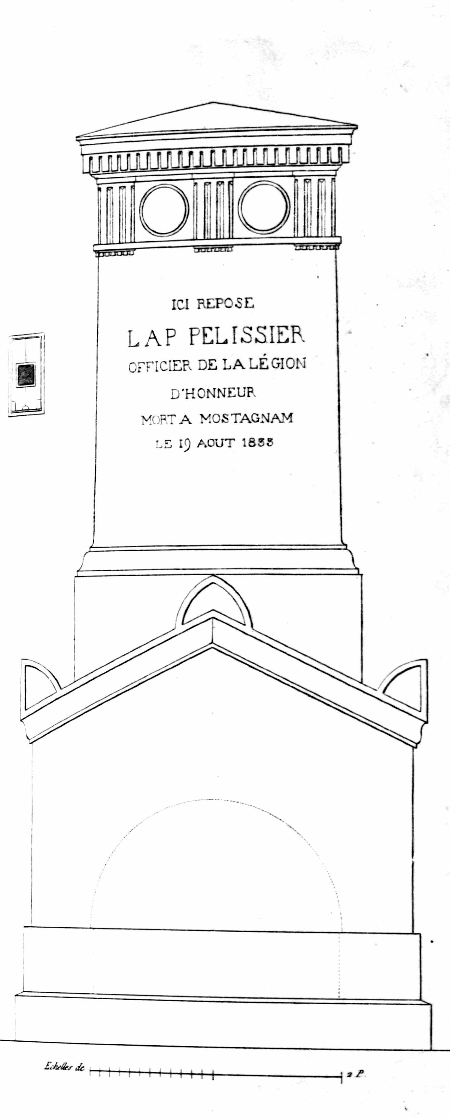 Monuments funéraires choisis dans les cimetières de Paris et des principales villes de France,  2nd part, 1863, by L. Normand ainé plate 49