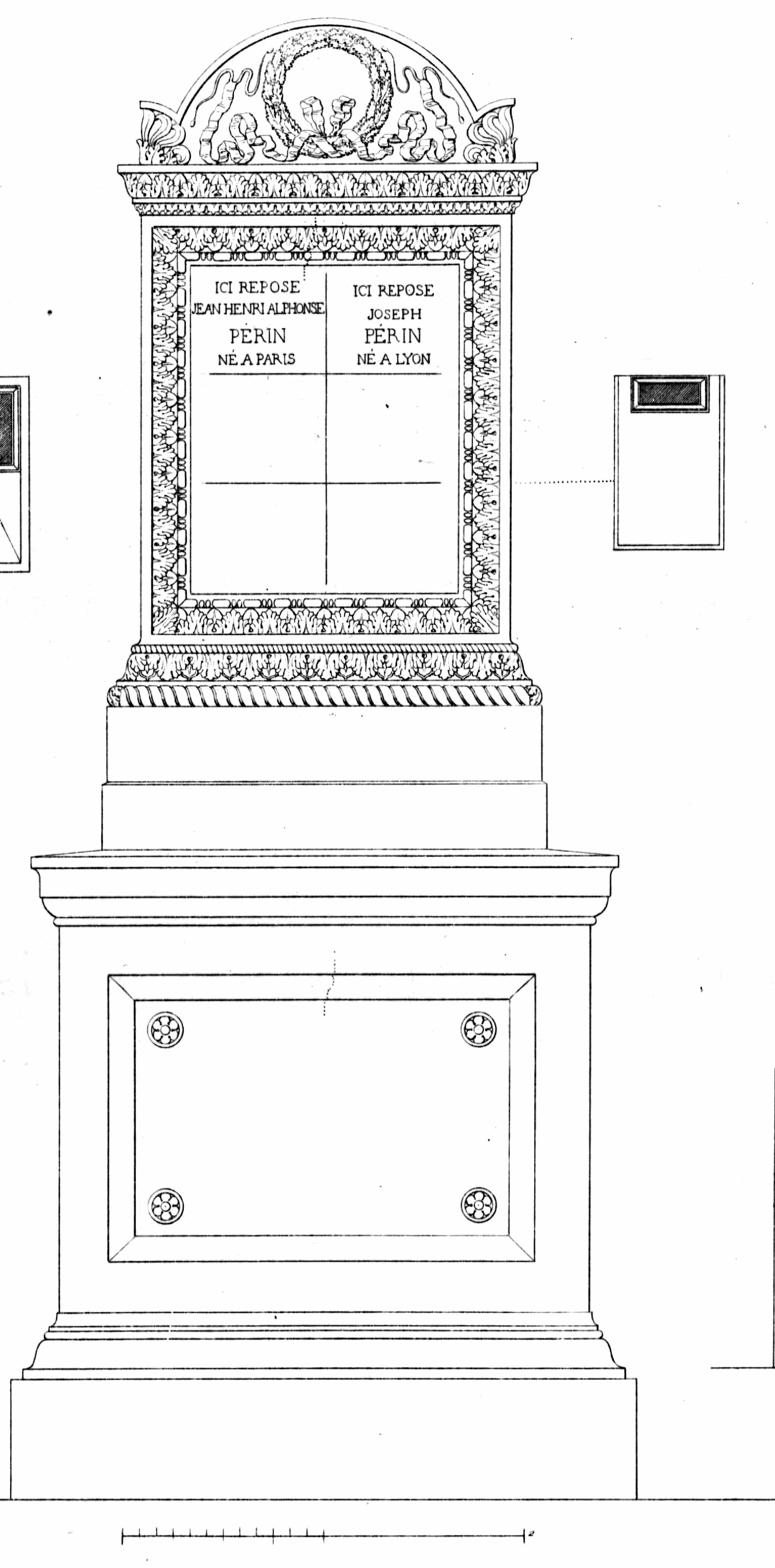 Monuments funéraires choisis dans les cimetières de Paris et des principales villes de France,  2nd part, 1863, by L. Normand ainé plate 16