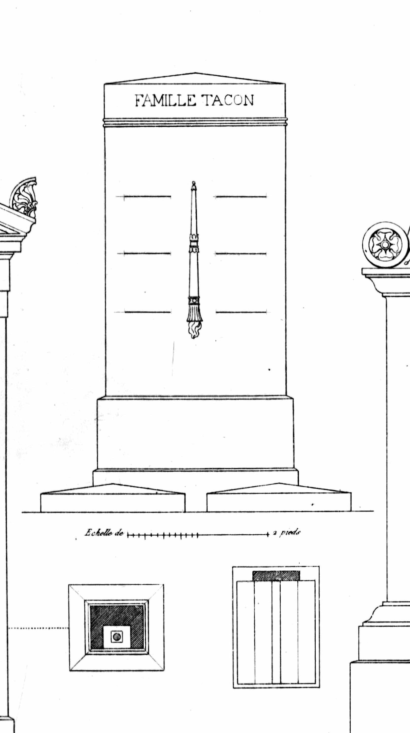 Monuments funéraires choisis dans les cimetières de Paris et des principales villes de France,  2nd part, 1863, by L. Normand ainé plate 19