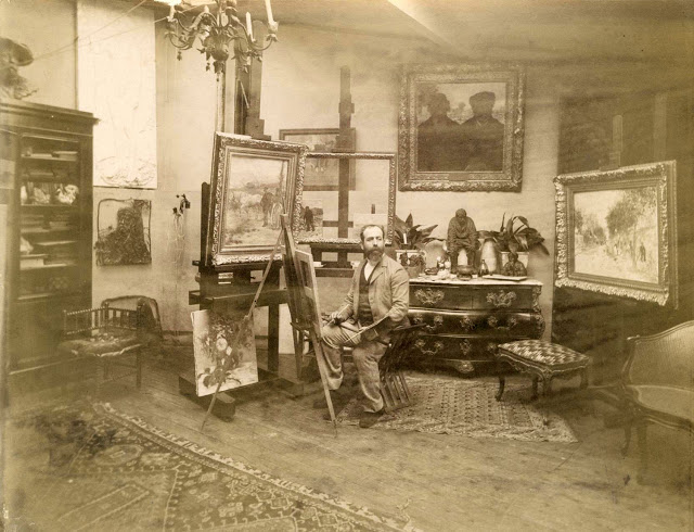 Raffaëlli in his studio
