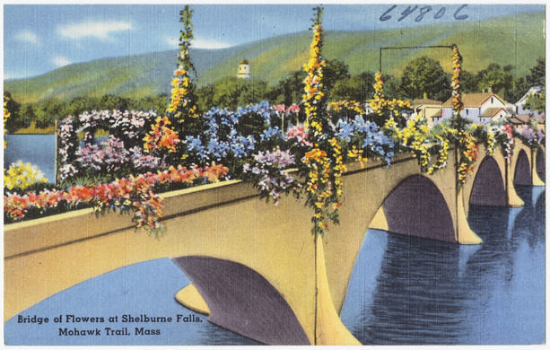 The Flower Bridge at Shelburne Falls, a perfectly picturesque destination for a summer day trip!