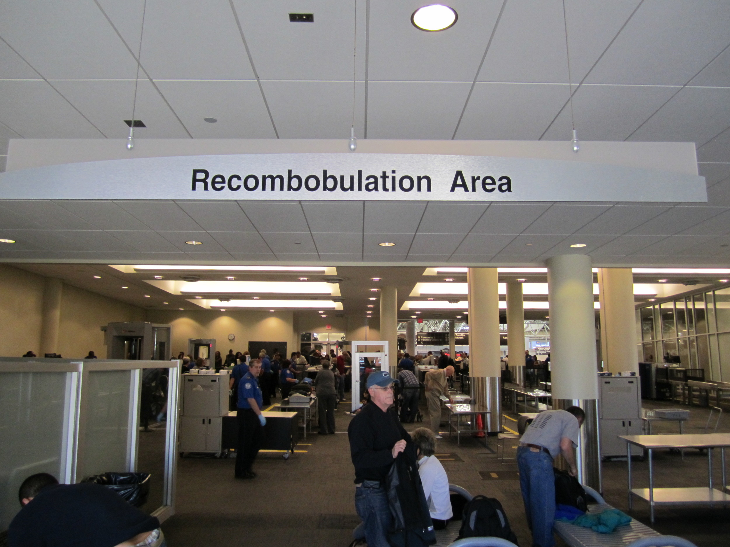 """Is """"Recombobulation"""" a real word? - Milwaukee Airport"""