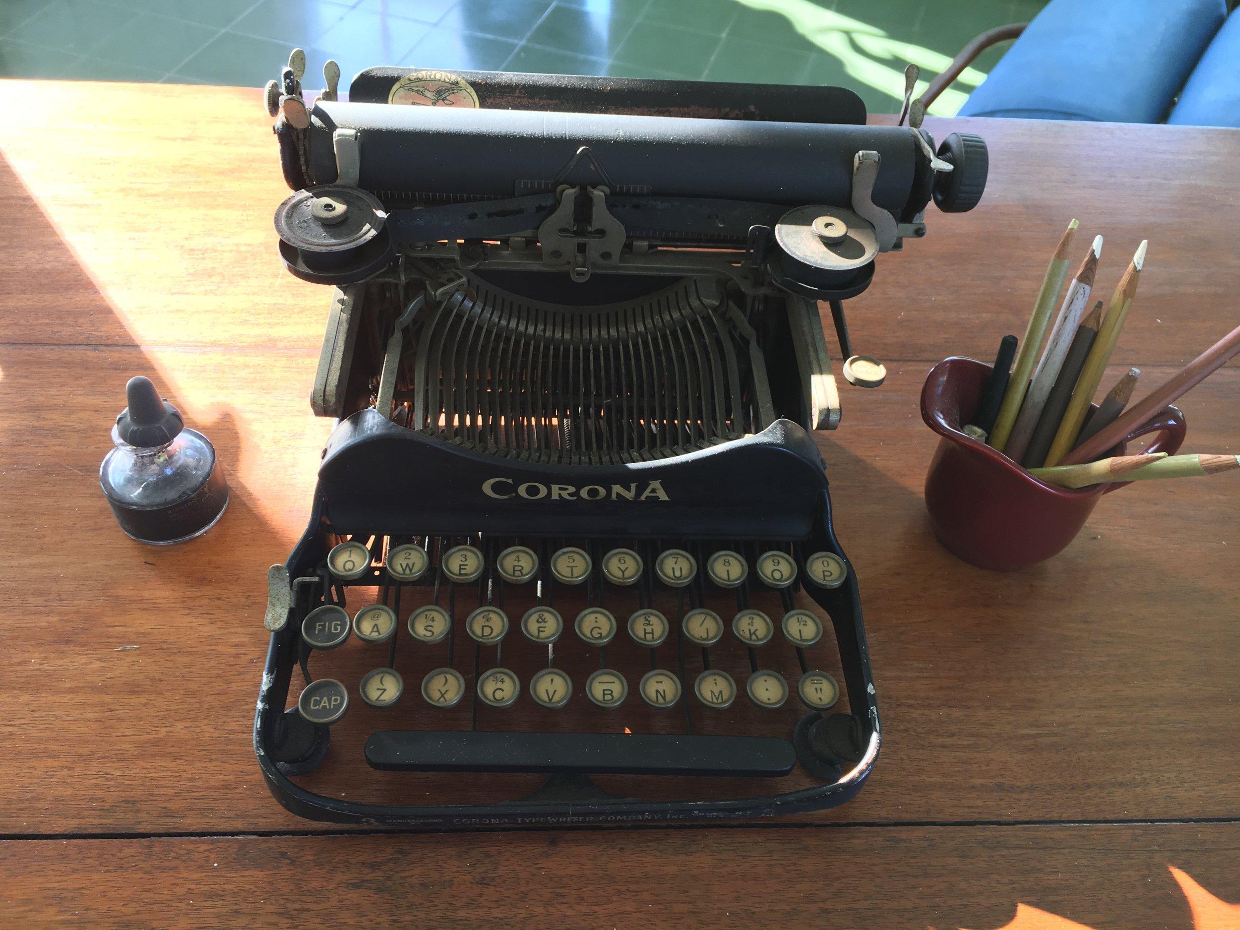 Ernest Hemingway's typewriter at his home just outside of Havana.