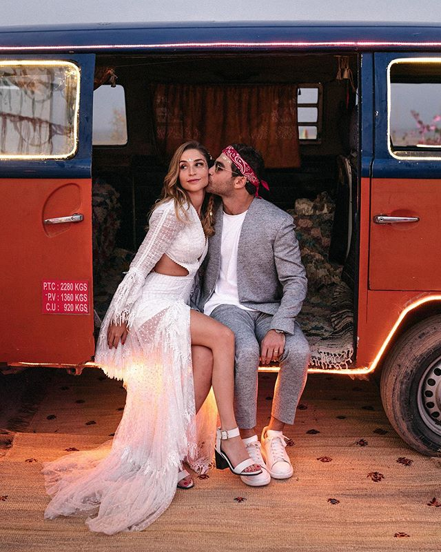 Gyspy souls!  They are @minouchezz & @ali_bumaye89 • • • • #marrakech #marrakechwedding #weddingphotographermarrakech #wedding #moroco #desertweddinginspo #weddingdress #belovedstories #beloved💕 #dirtybootsmessyhair #junebugswedding #authenticlove #authenticlovemag #weddingdress
