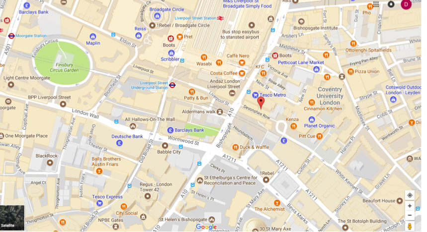 LIVERPOOL STREET PRACTICE:CLICK ON MAP TO OPEN GOOGLE MAPS IN ANOTHER WINDOW.