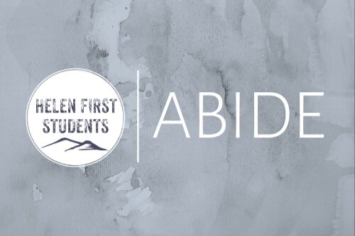 Abide Youth Service - Students in Grades 6-12 meet from 6:00-7:45 each week during the school year for a time of worship, Bible teaching, and small-group discussion. Meets in Room 200.