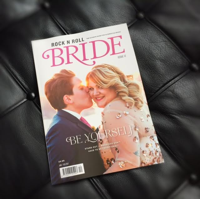 Front cover Rock n Roll Brides Jan/Feb 2017