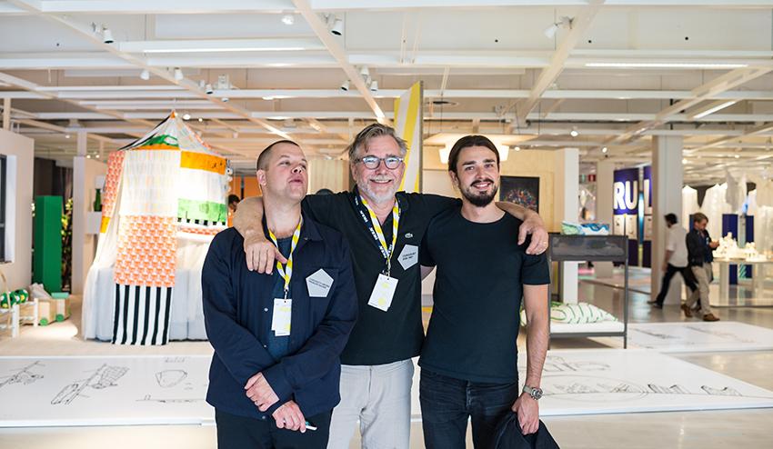 From left Mathias Worbin, Christian Aronsen and Milton Runerheim