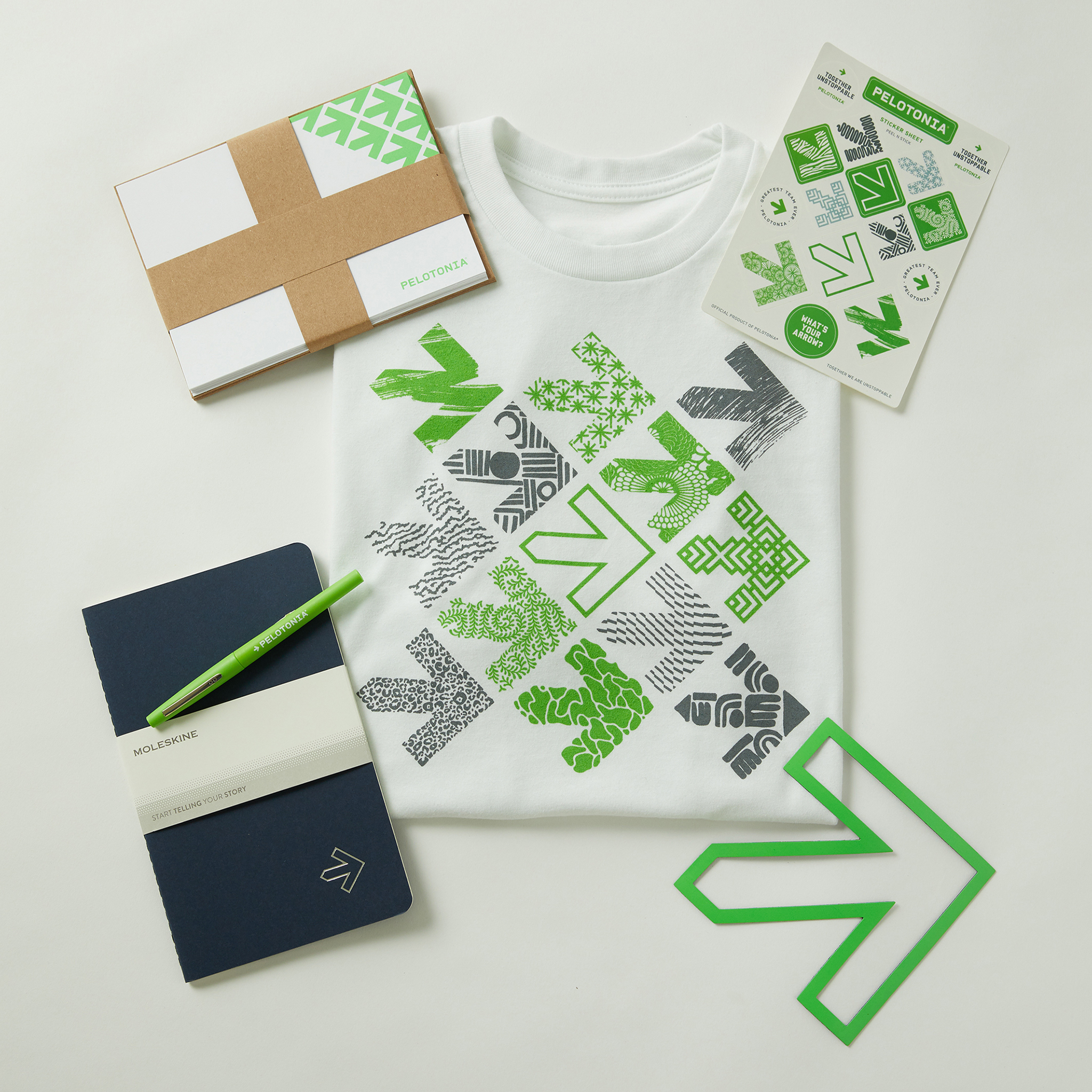 product laydown of 2019 Pelotonia Launch Pack Set