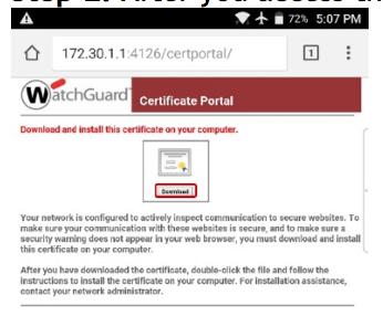 WatchGuard DPI on Android
