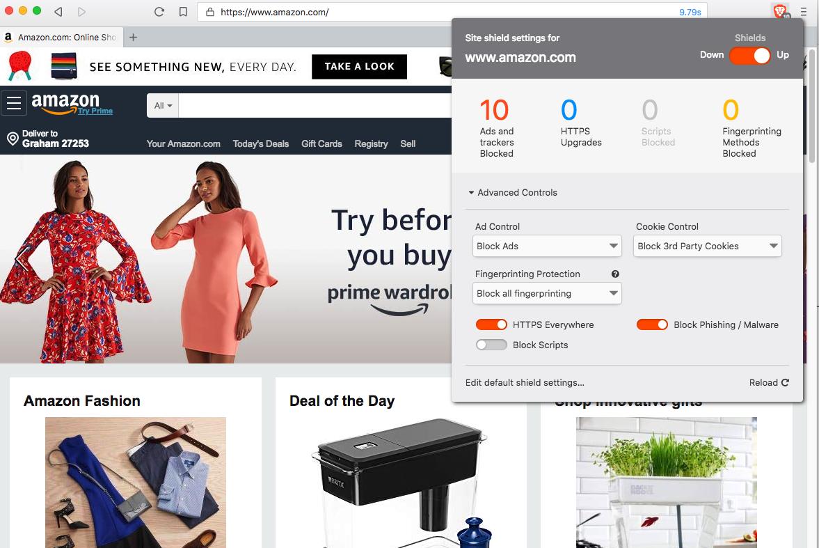 Amazon.com website image