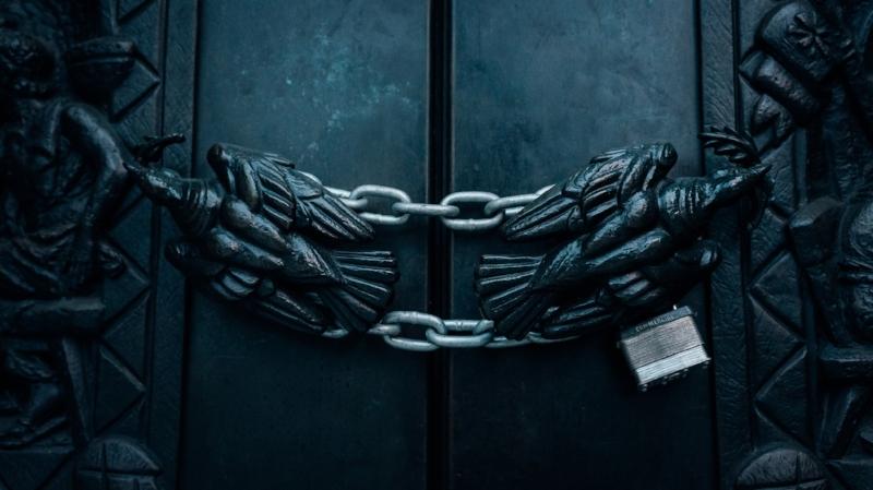 chain locked door
