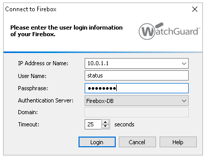 WatchGuard Policy Manager screen shot