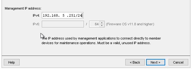 Verify FireCluster settings screen shot