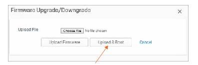 Firmware Upgrade/Downgrade screen image