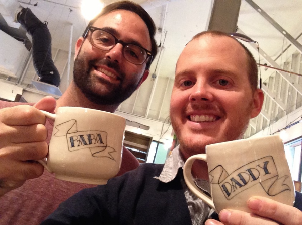 """Daddy"" and ""Papa"" mugs at  Boy's Fort ."