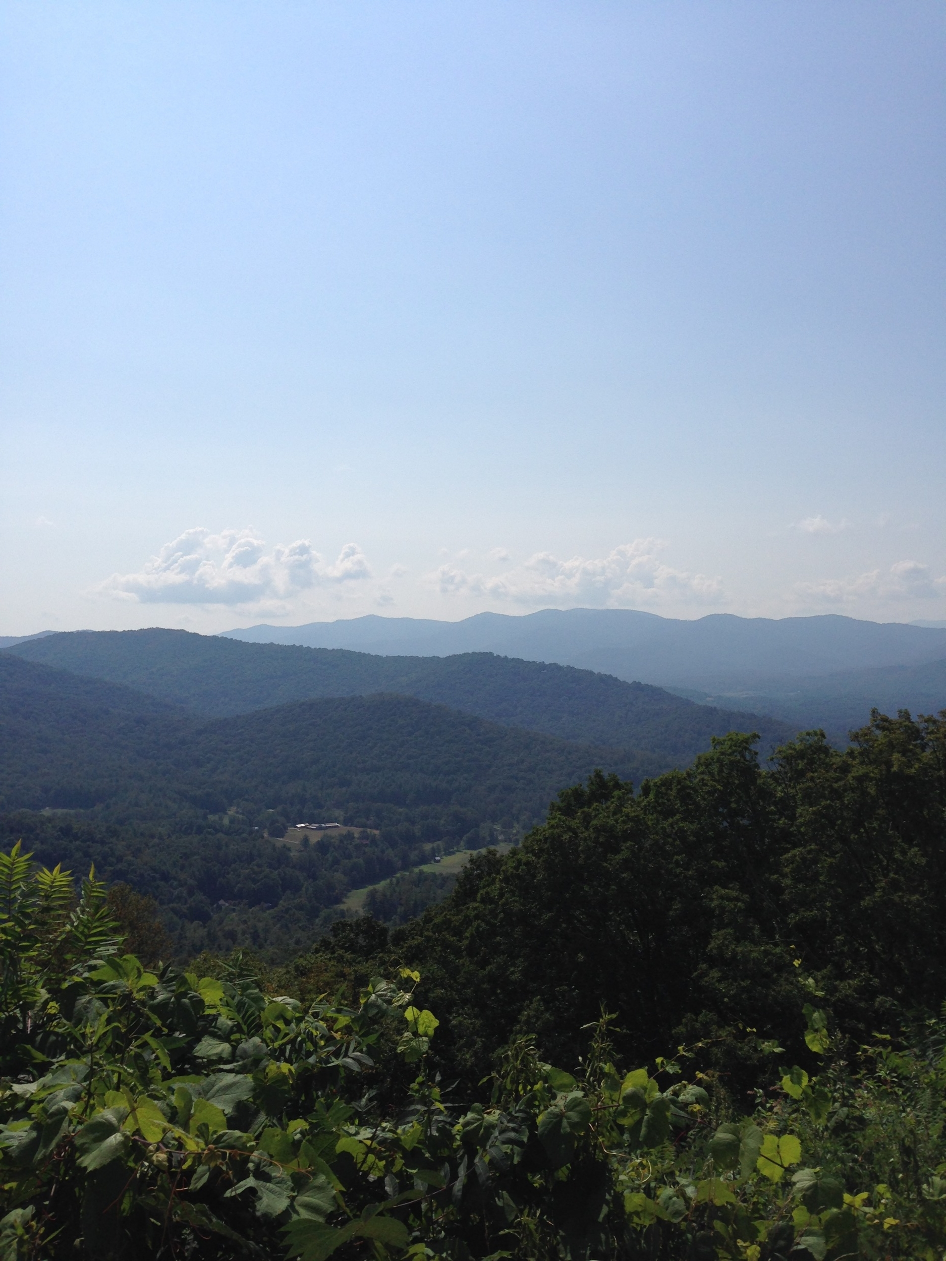 View from the Blue Ridge Parkway in North Carolina.