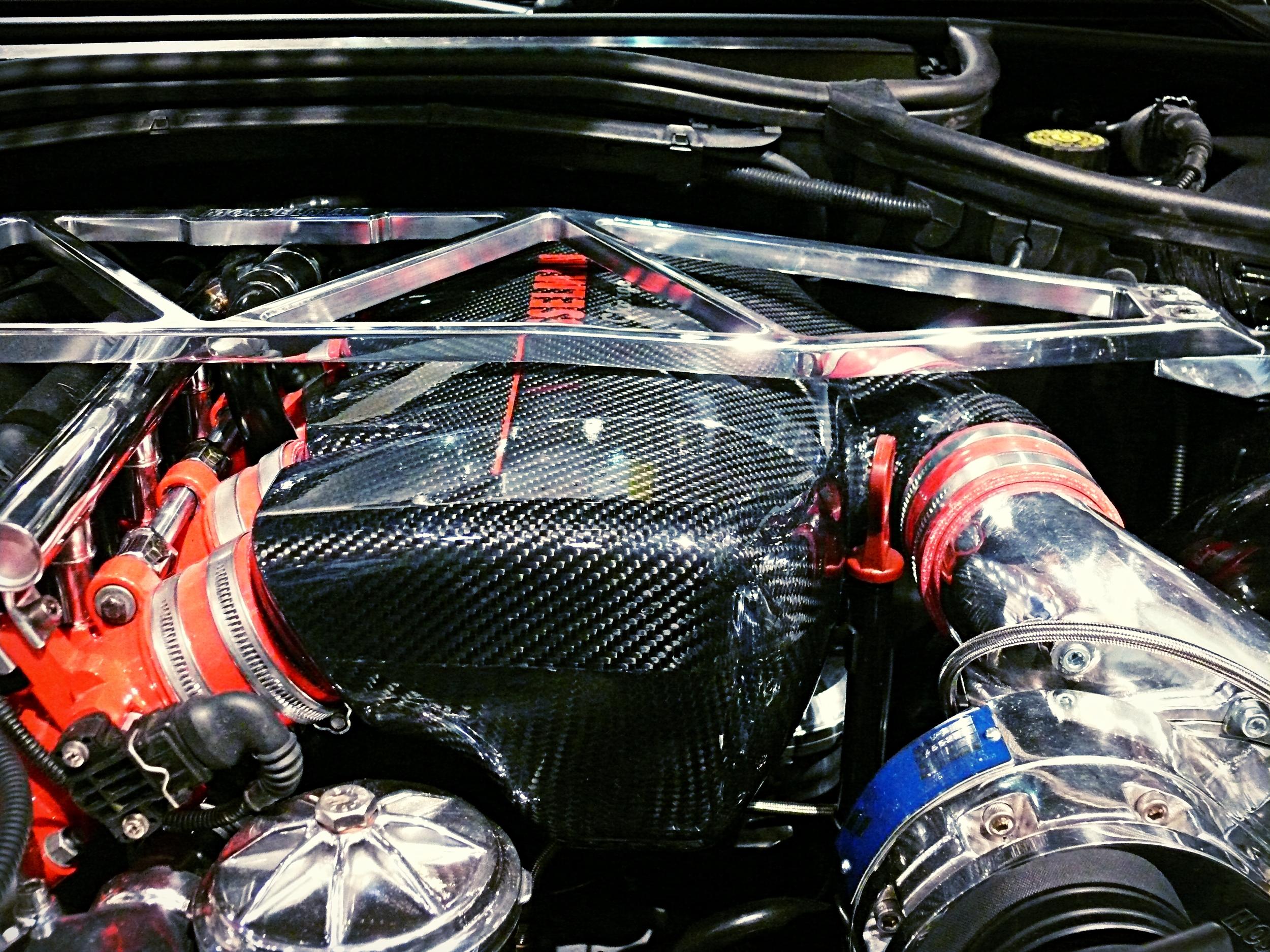 BMW M3  Prepreg carbon airbox.
