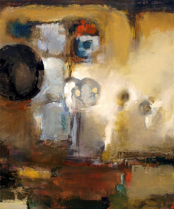 """Urban Relic"" Oil & Mixed Media — 72"" x 60"""