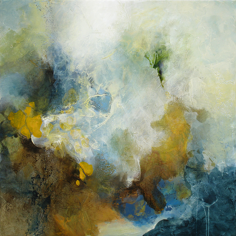 """""""Resolution Of Sublimity"""" 48 x 48 in. — oil & mixed media"""